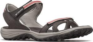 Brązowe sandały Columbia na rzepy z płaską podeszwą