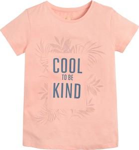 Bluzka dziecięca Cool Club dla dziewczynek z bawełny z krótkim rękawem