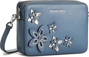638abbd0173d5 Niebieska torebka Michael Kors średnia na ramię
