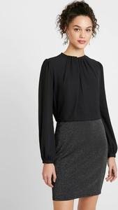 Czarna sukienka Vero Moda mini z okrągłym dekoltem w stylu casual