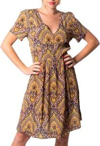 Sukienka Only z krótkim rękawem z dekoltem w kształcie litery v