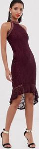 Fioletowa sukienka Ax Paris dopasowana