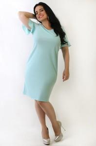 Sukienka Exclusive Line midi z okrągłym dekoltem