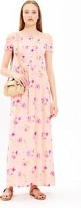 Sukienka Gate z krótkim rękawem maxi w stylu boho