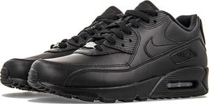 Czarne buty sportowe Nike ze skóry sznurowane air max 90