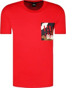 T-shirt Hugo Boss w młodzieżowym stylu z krótkim rękawem z nadrukiem