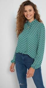 Zielona bluzka ORSAY z długim rękawem z tkaniny