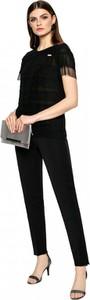 Bluzka L'AF z krótkim rękawem z tkaniny z okrągłym dekoltem