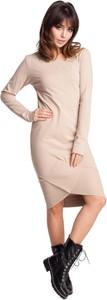 Sukienka Be w stylu casual midi z długim rękawem