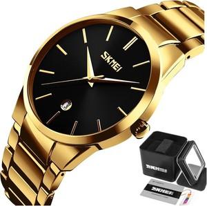 Zegarek męski SKMEI 9140 DATOWNIK gold/black