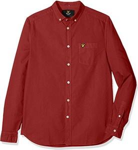 Czerwona koszula amazon.de z krótkim rękawem
