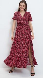 Czerwona sukienka Mohito z krótkim rękawem maxi