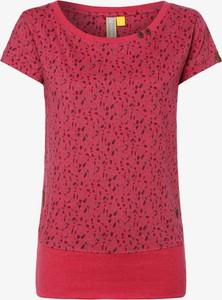 Różowy t-shirt Alife & Kickin w stylu casual z krótkim rękawem z okrągłym dekoltem