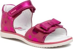 Różowe buty dziecięce letnie Lasocki Kids na rzepy