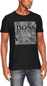 Czarny t-shirt boss casual