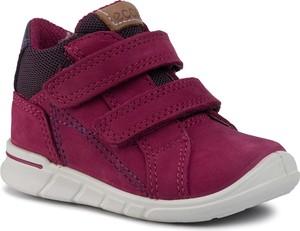 Czerwone buty dziecięce zimowe Ecco