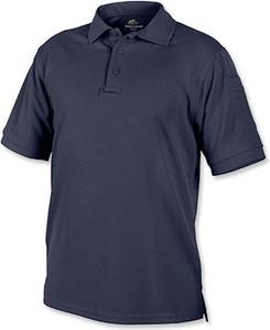 Niebieska koszulka polo HELIKON-TEX z krótkim rękawem