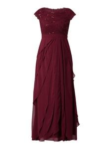 Czerwona sukienka Christian Berg Cocktail maxi z szyfonu