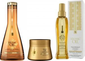 L'Oreal Paris LOREAL MYTHIC OIL Zestaw odżywczy szampon 250ml, maska 200ml i olejek 100ml