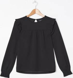 Czarna bluzka House z okrągłym dekoltem w stylu casual