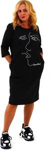 Czarna sukienka Roxana - sukienki z długim rękawem w stylu casual