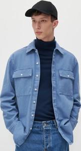 Niebieska koszula Reserved z bawełny w stylu casual z klasycznym kołnierzykiem