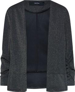 Czarna marynarka Vero Moda długa z tkaniny bez zapięcia
