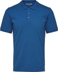 Niebieska koszulka polo Only&sons