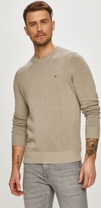 Sweter Tommy Hilfiger z bawełny z okrągłym dekoltem w stylu casual