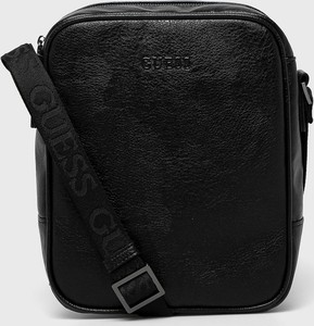 Czarna torba Guess Jeans ze skóry ekologicznej
