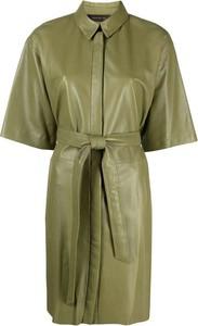 Zielona sukienka Federica Tosi mini koszulowa z krótkim rękawem