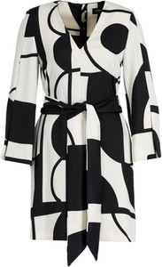 Sukienka Marella w geometryczne wzory z długim rękawem