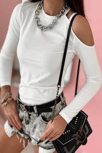 Bluzka Shopaholics Dream w stylu casual z okrągłym dekoltem