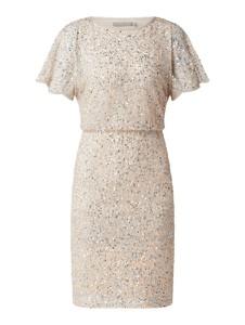 Sukienka Christian Berg z szyfonu z krótkim rękawem