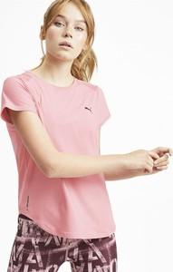 T-shirt Puma w sportowym stylu z okrągłym dekoltem z krótkim rękawem