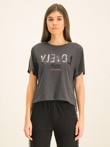 T-shirt Guess z okrągłym dekoltem w młodzieżowym stylu