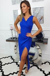 Niebieska sukienka fashion-freak.pl bez rękawów