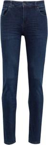 Granatowe jeansy Solid