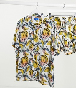 Koszula Jack & Jones z krótkim rękawem z klasycznym kołnierzykiem z nadrukiem