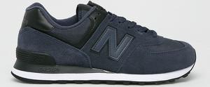Granatowe buty sportowe New Balance 574 ze skóry