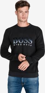 Czarna bluza Hugo Boss z zamszu