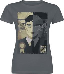 Czarny t-shirt Emp w młodzieżowym stylu z okrągłym dekoltem z krótkim rękawem