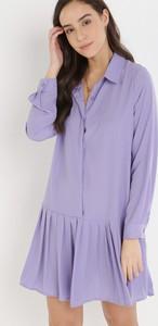 Sukienka born2be w stylu casual koszulowa z długim rękawem