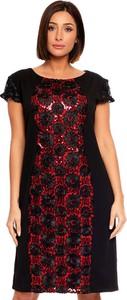 Sukienka Plus Size Fashion mini z okrągłym dekoltem