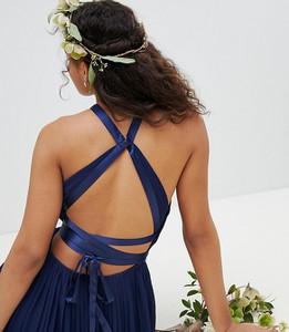 Granatowa sukienka Tfnc Tall na ramiączkach