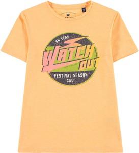 Pomarańczowa koszulka dziecięca Tom Tailor z bawełny dla chłopców