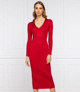 Sukienka Twinset z długim rękawem midi