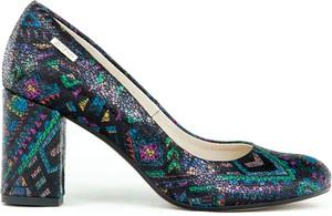 Baleriny Zapato z płaską podeszwą na wysokim obcasie