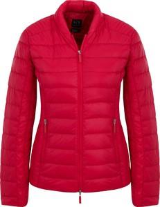 Czerwona kurtka Armani Jeans krótka w stylu casual