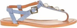 Niebieskie sandały CTWLK z klamrami z płaską podeszwą w stylu casual